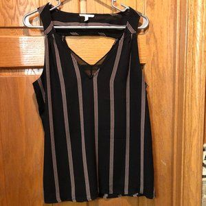 Maurices Keyhole Back Tank Top Blouse, M
